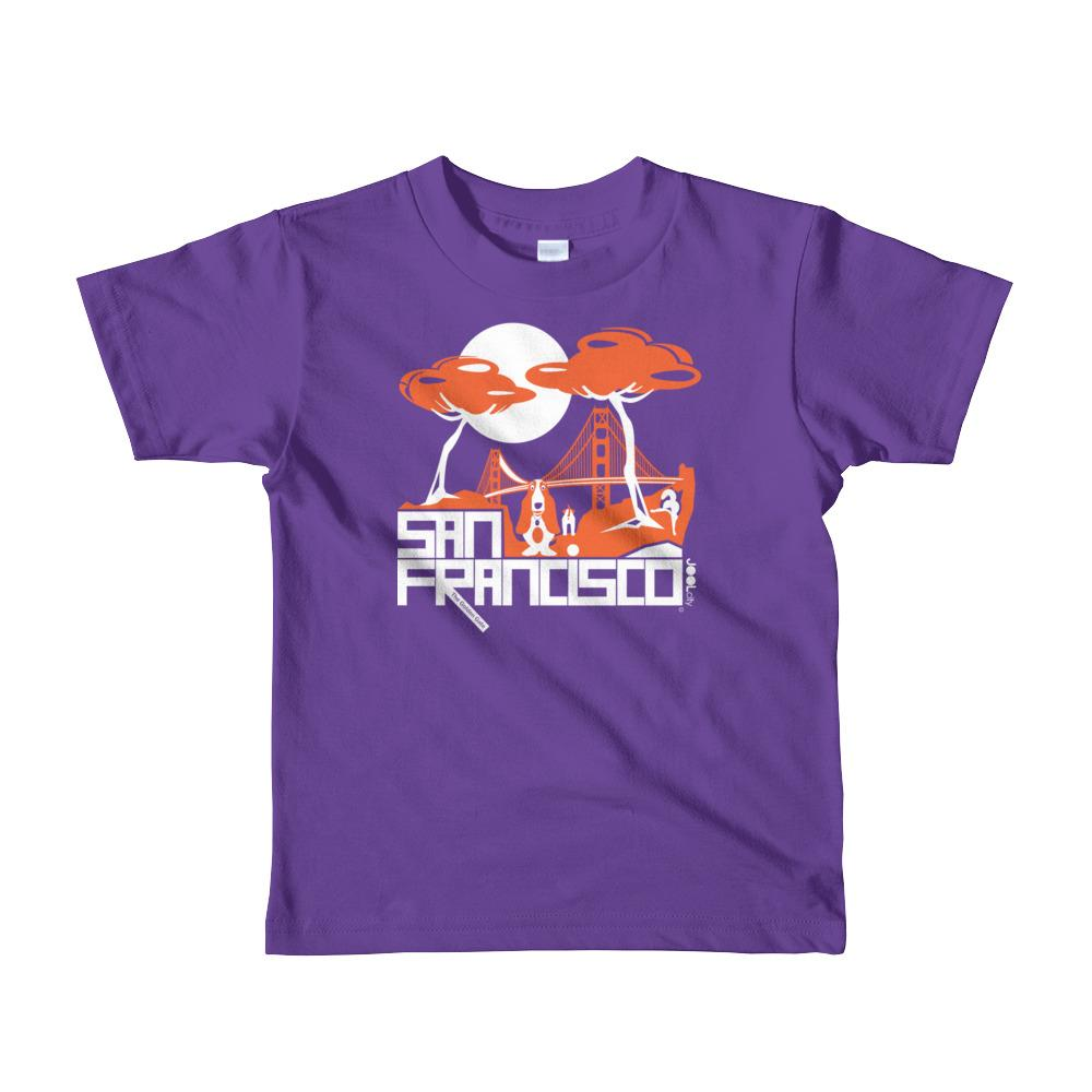 San Francisco Puppy Gate Short Sleeve Toddler T-shirt T-Shirts Purple / 6yrs designed by JOOLcity