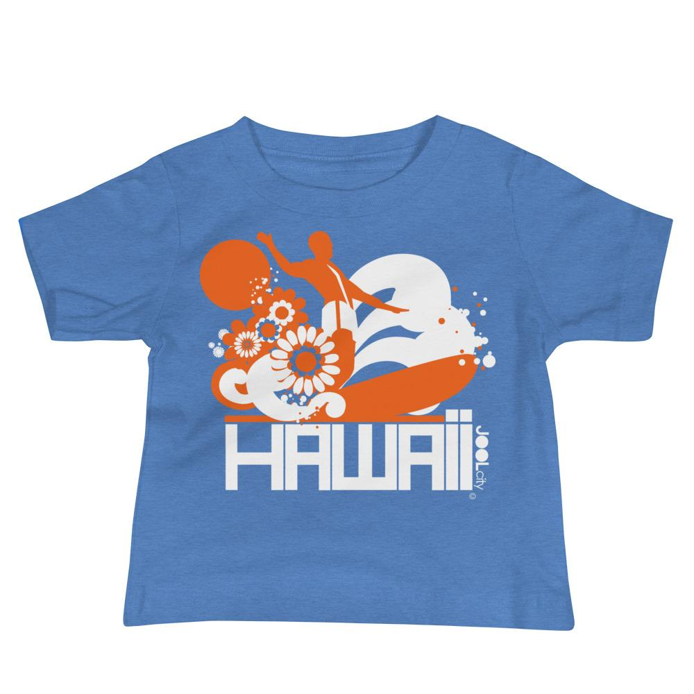 Hawaii Longboard Love Baby Jersey Short Sleeve Tee T-Shirts Heather Columbia Blue / 18-24m designed by JOOLcity