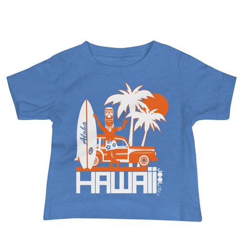 Hawaii Surfin Woody Baby Jersey Short Sleeve Tee T-Shirts Heather Columbia Blue / 18-24m designed by JOOLcity