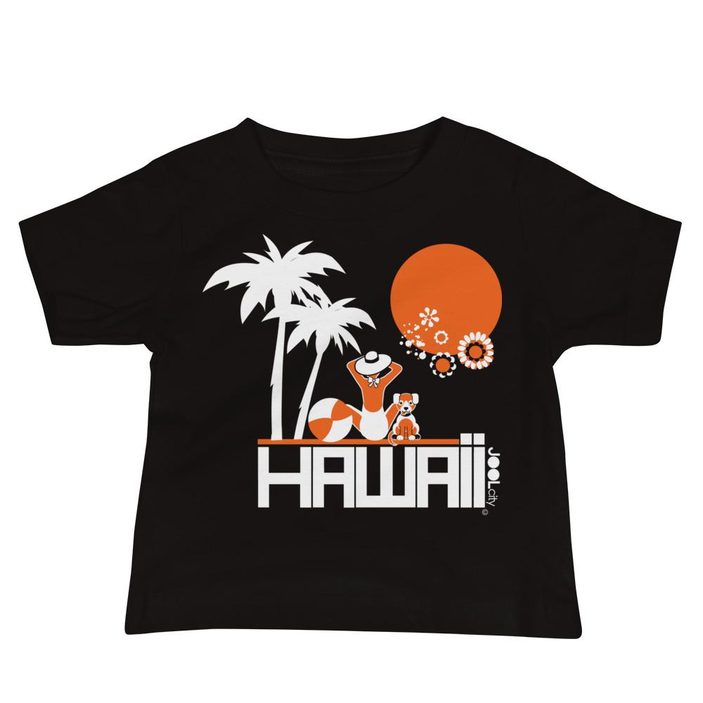 Hawaii Beach Love Baby Jersey Short Sleeve Tee T-Shirts Black / 18-24m designed by JOOLcity