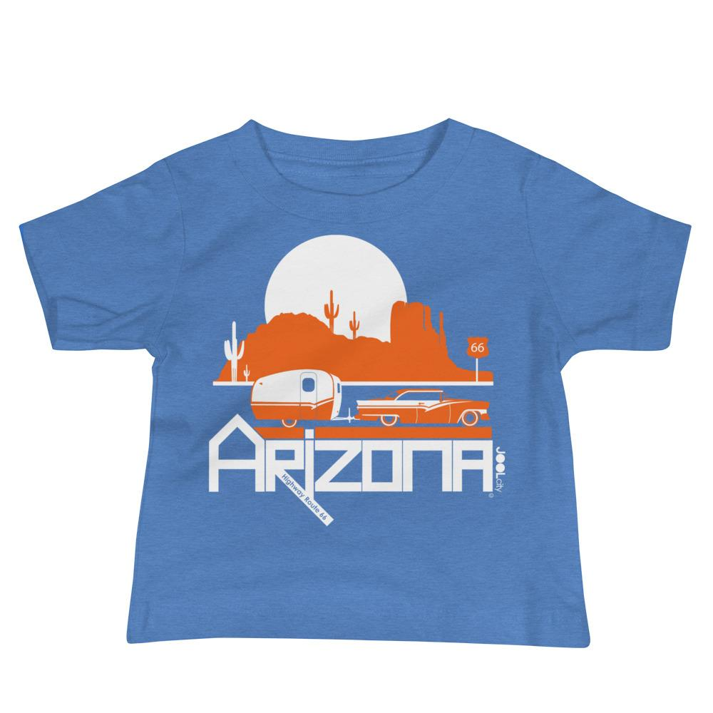 Arizona Retro Route 66 Baby Jersey Short Sleeve Tee T-Shirts Heather Columbia Blue / 18-24m designed by JOOLcity
