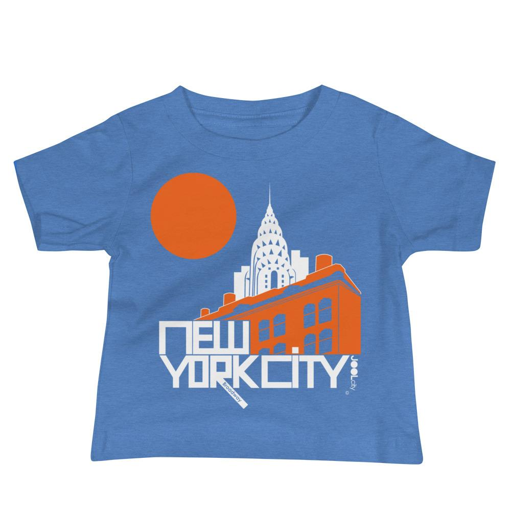 New York Gotham Deco Baby Jersey Short Sleeve Tee