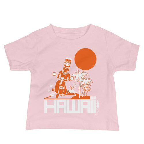 Hawaii Moped Madness Baby Jersey Short Sleeve Tee T-Shirts Pink / 18-24m designed by JOOLcity