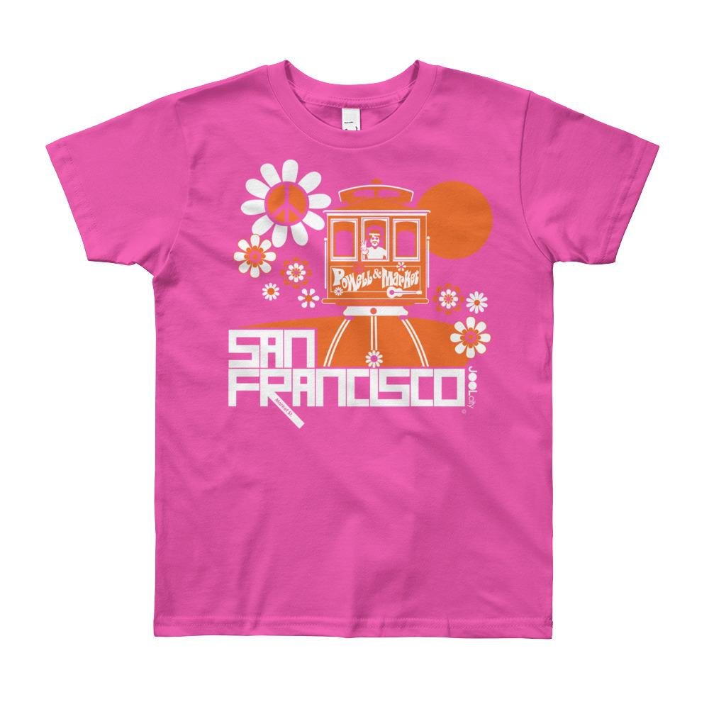 San Francisco Cable Car Groove Youth Short Sleeve T-Shirt