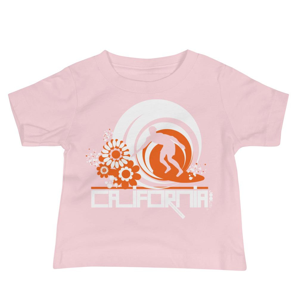 California Ripcurl Flower Power Baby Jersey Short Sleeve Tee T-Shirts Pink / 18-24m designed by JOOLcity