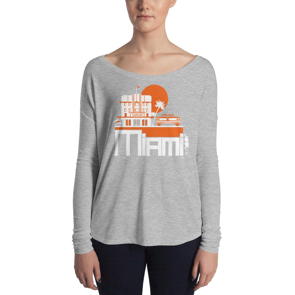 Miami Deco Ride Ladies' Long Sleeve Tee