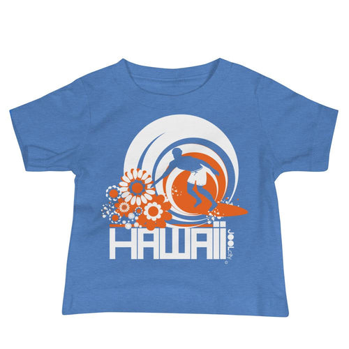 Hawaii Ripcurl Kid Baby Jersey Short Sleeve Tee T-Shirts Heather Columbia Blue / 18-24m designed by JOOLcity