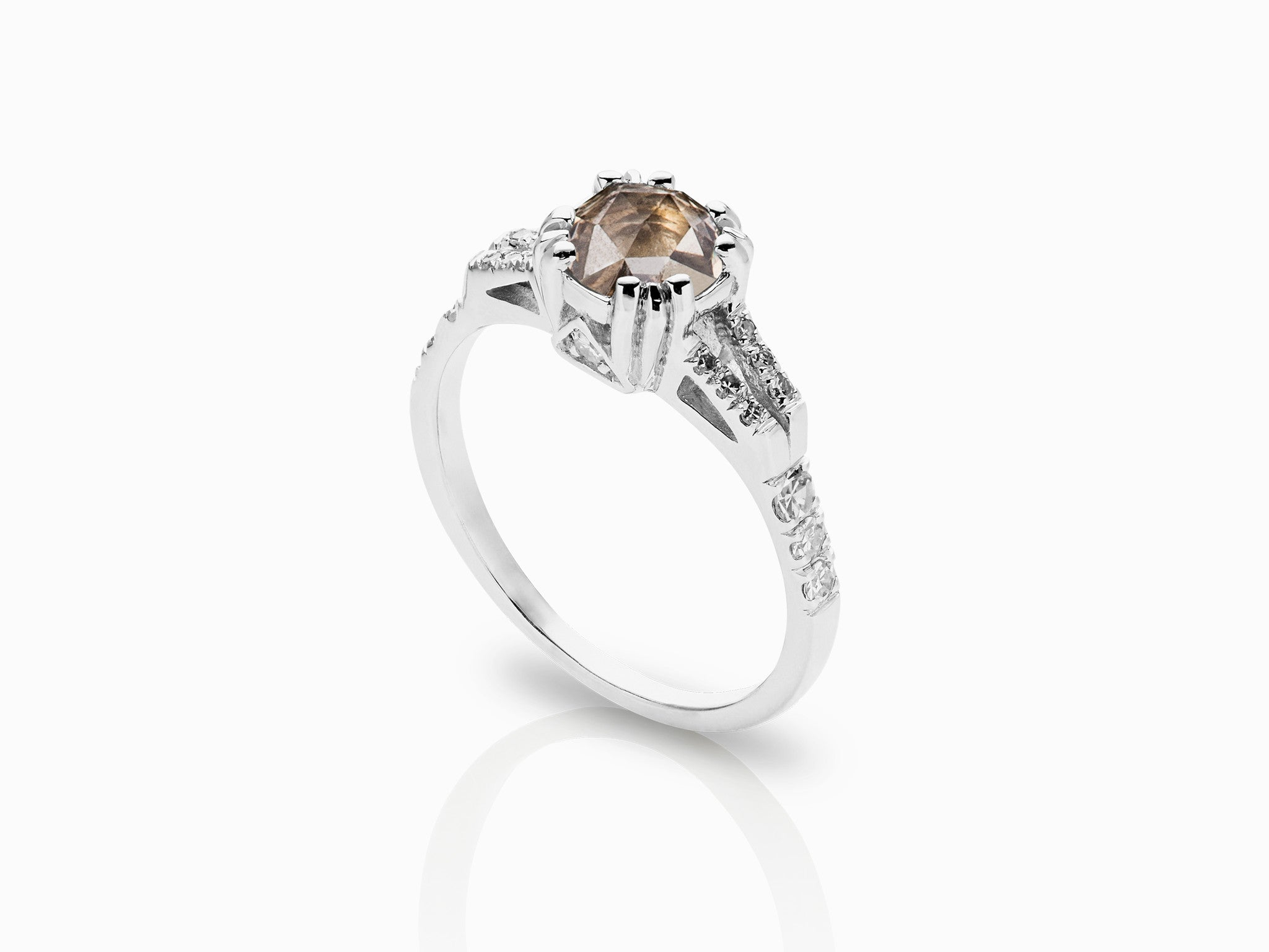 white rose all buy two cushion peach side rings gold stones champagne bezel sapphires ring promise engagement sapphire