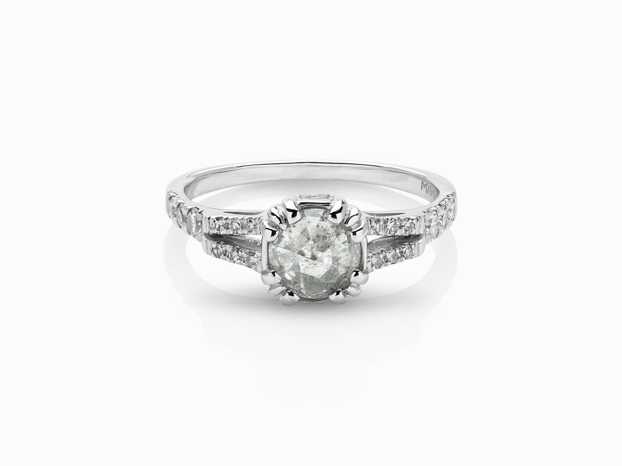 Beloved Solitaire Ring - Rustic White Diamond