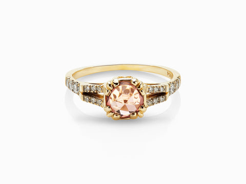 Beloved Solitaire Ring - Peach Tourmaline