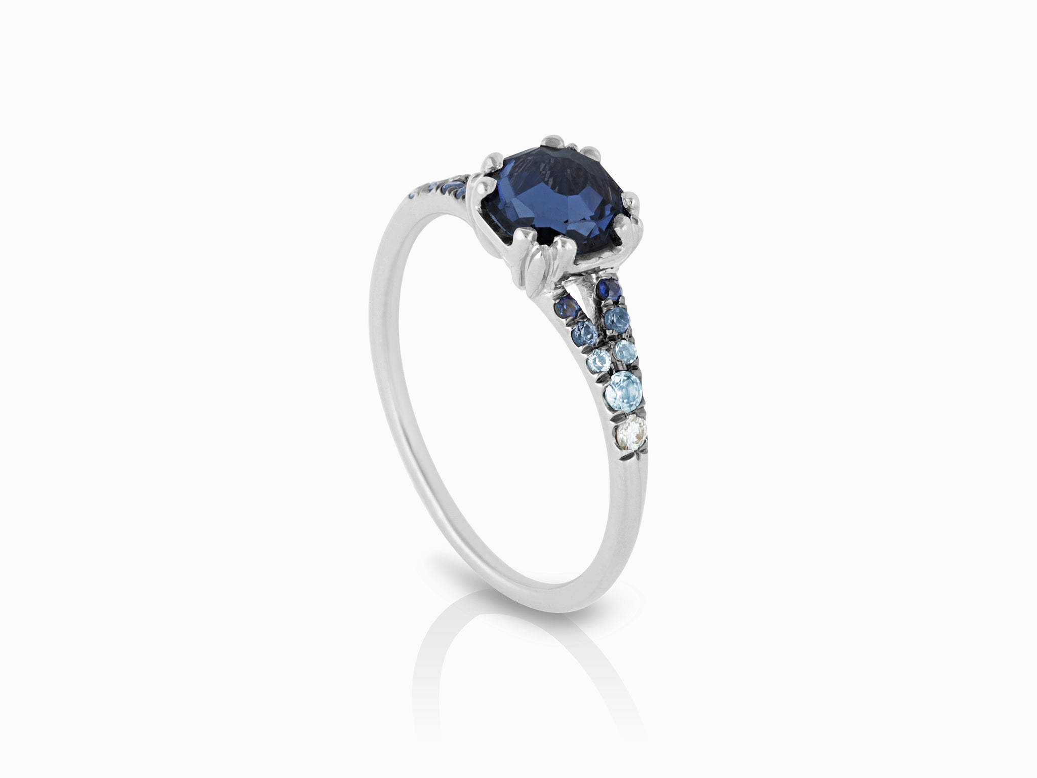 beautiful dark solitaire engagement with rings colored diamond ring natural wedding of blue attachment