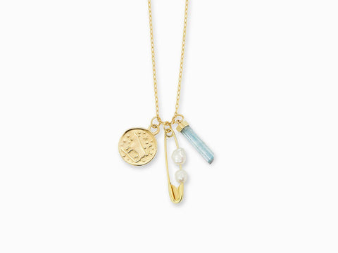 Ephemera charm necklace