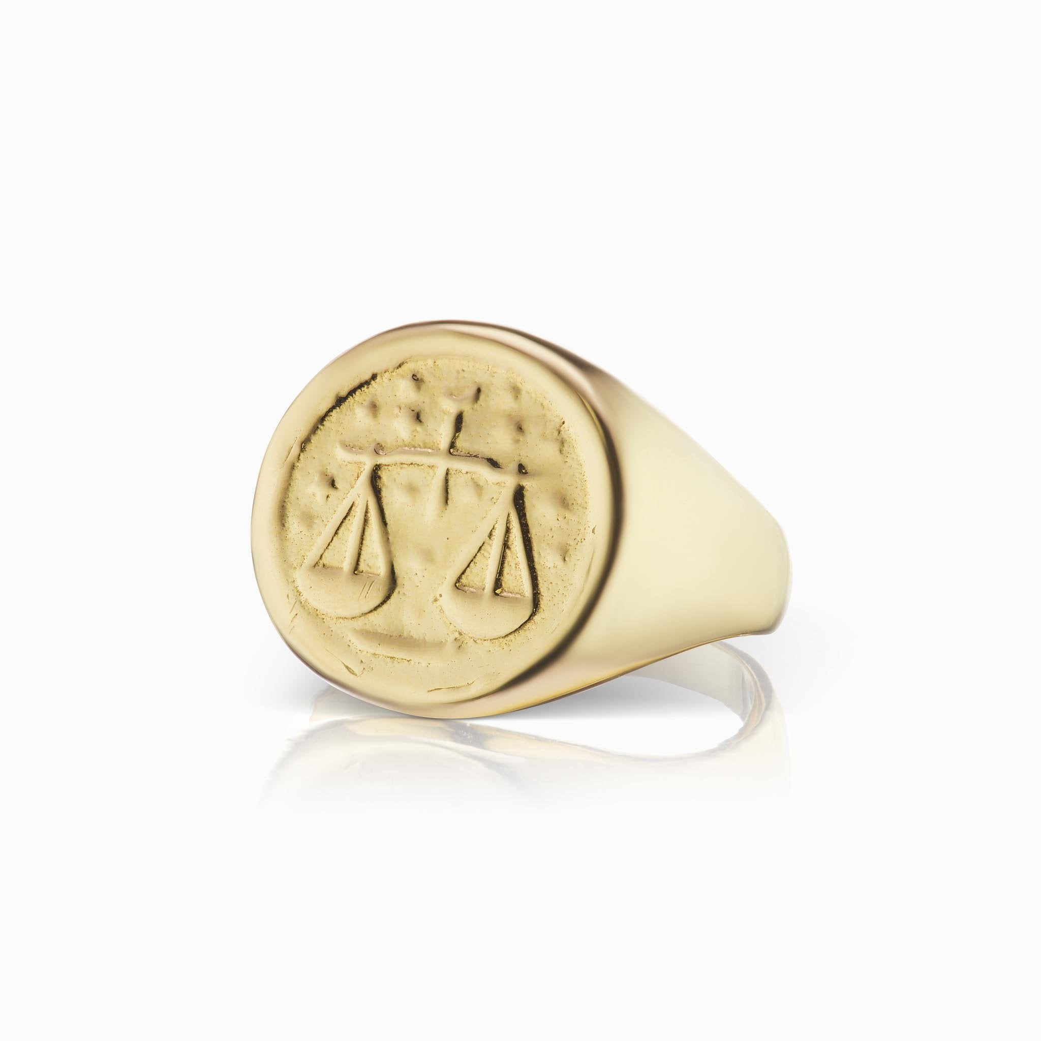 Zodiac Signet Ring - Libra - In Stock Now
