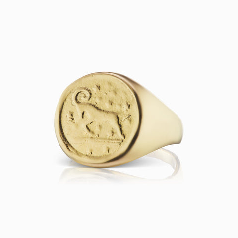 Zodiac Signet Ring - Aries - In Stock Now