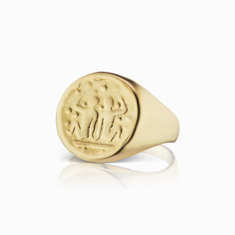 Zodiac Signet Ring - Gemini - In Stock Now