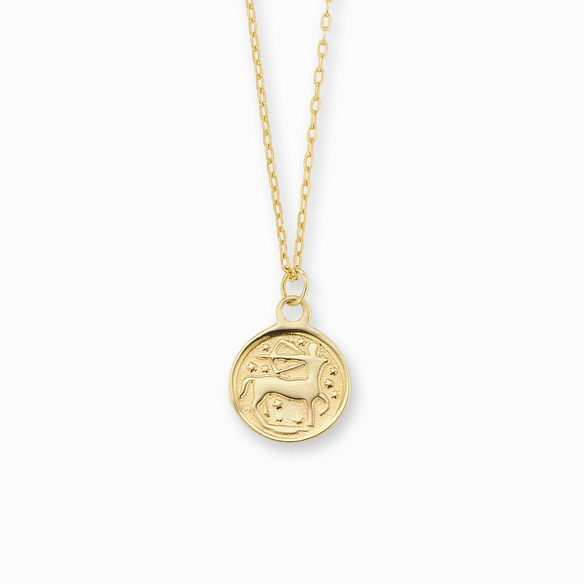 Zodiac Coin Pendant - Sagittarius - In Stock Now