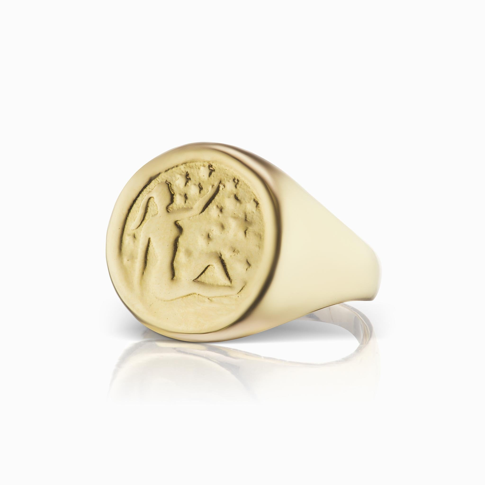 Zodiac Signet Ring - Virgo - In Stock Now