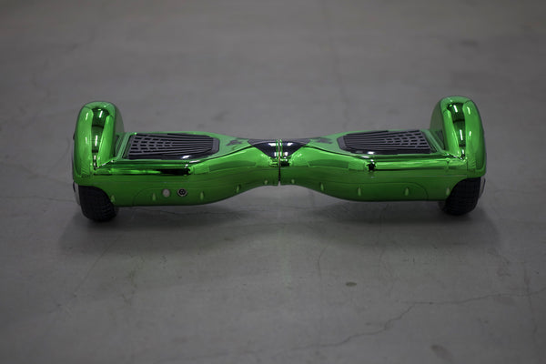 Chrome Hoverboard - 'Alien Green' (with Bluetooth Speakers) - Space Chariot