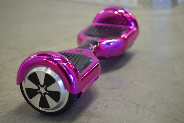 Chrome Hoverboard - 'Purple' with Bluetooth and LEDs - Space Chariot