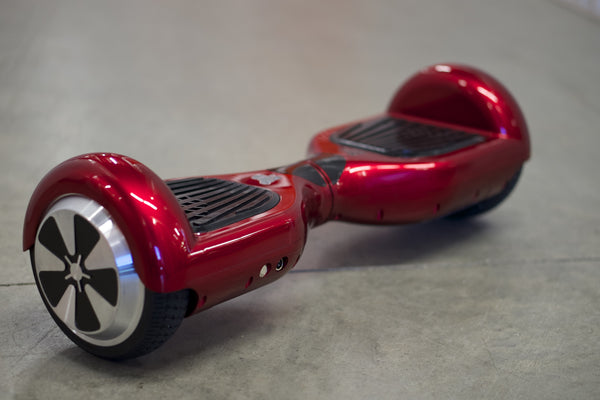 Original Hoverboard - 'Meteor Red'  with bluetooth, Samsung Battery Inside, and Remote Control - Space Chariot