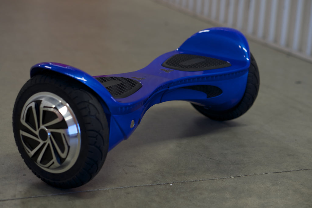 "Hoverboard w/ bluetooth - 'Galaxy Blue' (10"" Wheels)  with bluetooth, Samsung Battery Inside, and Remote Control - Space Chariot"