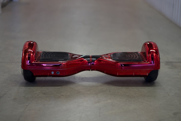 Chrome Hoverboard - 'Meteor Red' Bluetooth - Space Chariot