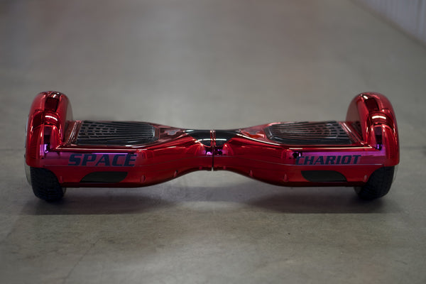 Chrome Hoverboard - 'Meteor Red' - Space Chariot