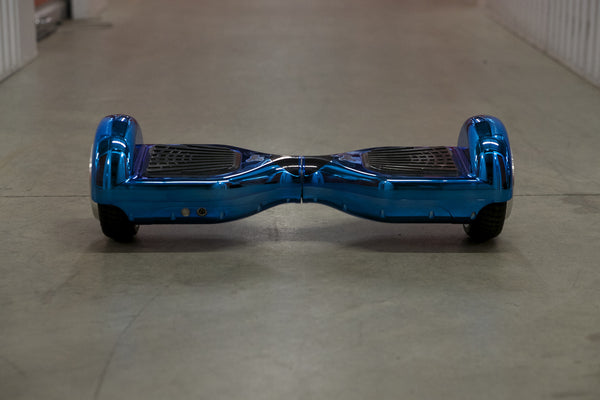 Chrome Hoverboard - 'Galaxy Blue' (with Bluetooth Speakers) - Space Chariot