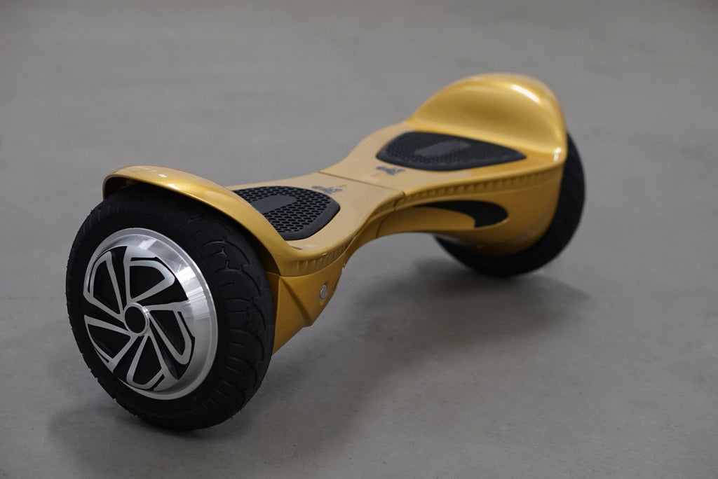 "Hoverboard w/ bluetooth - 'Flawless Gold' (10"" Wheels)  with bluetooth, Samsung Battery Inside, and Remote Control - Space Chariot"
