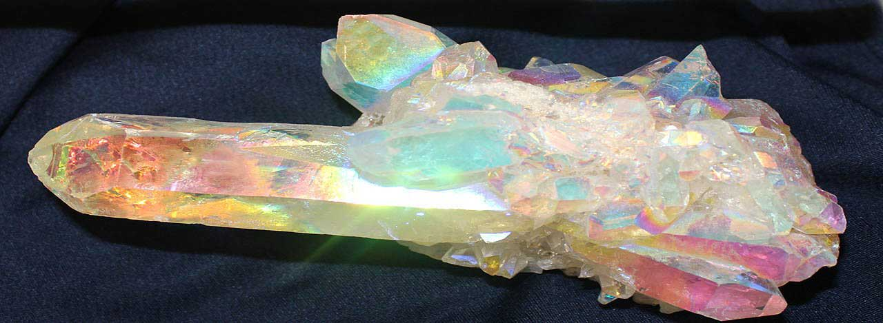This amazing 6inch Angel Aura Point Cluster was sold by us to a collector a few years ago