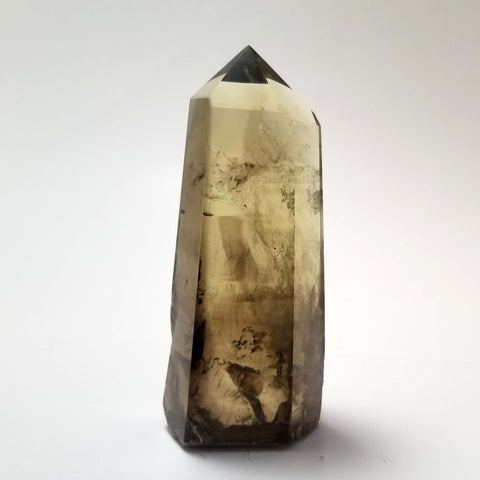 Large Smokey Citrine Point with Phantoms - 4 1/2