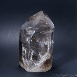 "5 1/2"" Tall Clear Quartz Crystal Point - Super Clear with Rainbows"