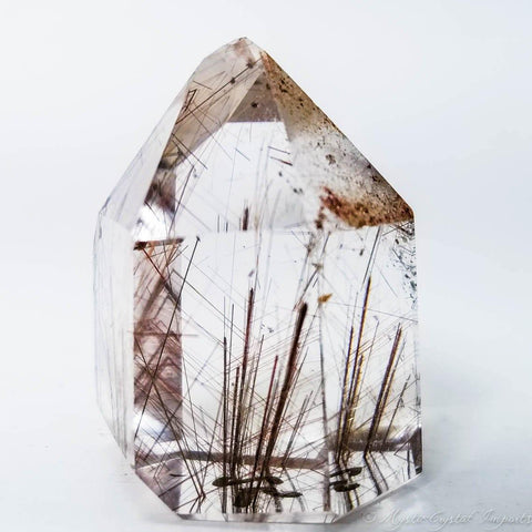 Fine Clear Quartz Copper Rutilated Crystal Point