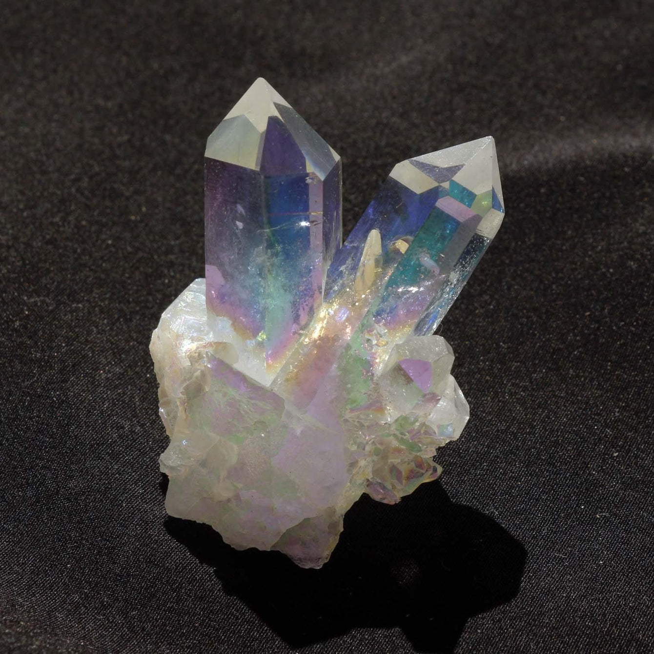 Angel Aura Quartz Cluster with Very Clear Points, Extra Fine Quality