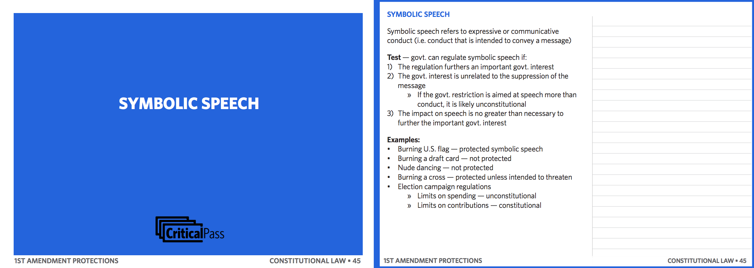 constitutional law flashcard sample