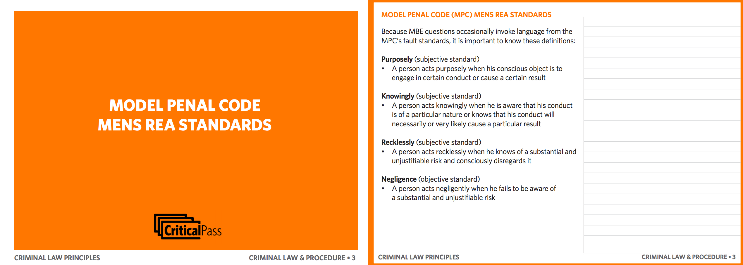 criminal law and procedure sample flashcard