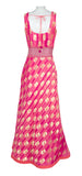 Coral and Pink Tye-Dye Brushstroke Gown