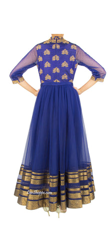 Navy and Golden Zardozi Anarkali