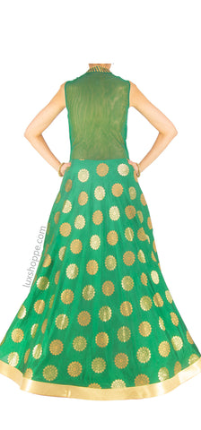 Emerald Brocade Gown