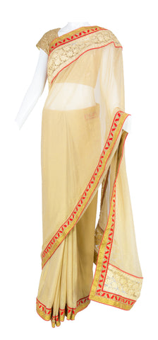 Gold Shimmer Saree