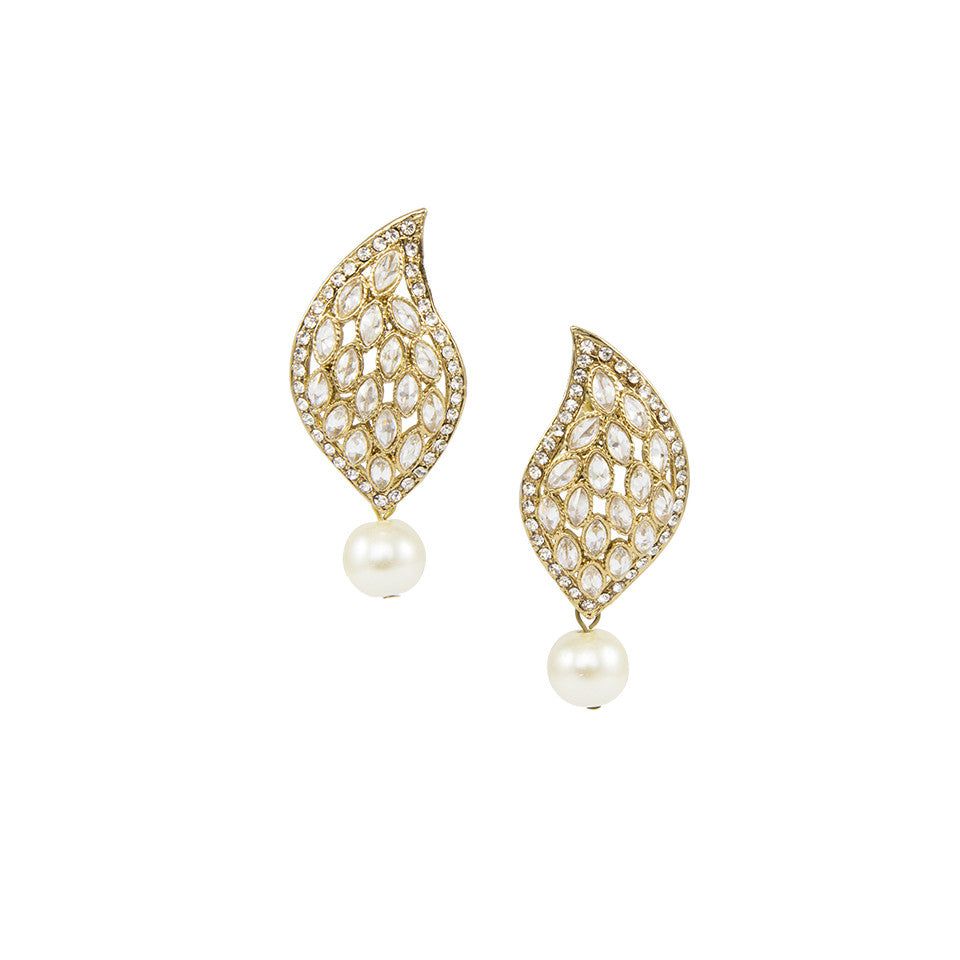 Golden Paisley Earrings