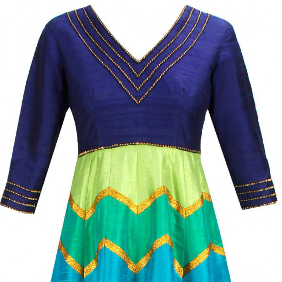 Royal Blue Shaded Anarkali