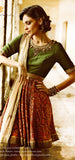 Olive Green Anarkali with Gold Churidar