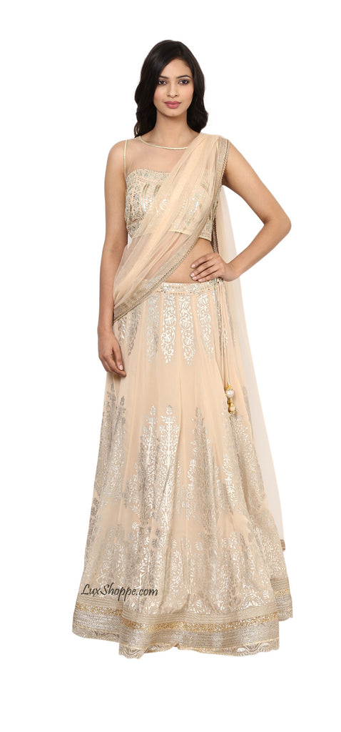 Blush Lehenga with Patri Work