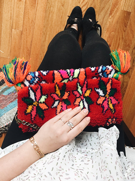 How to Style A Colorful Clutch!