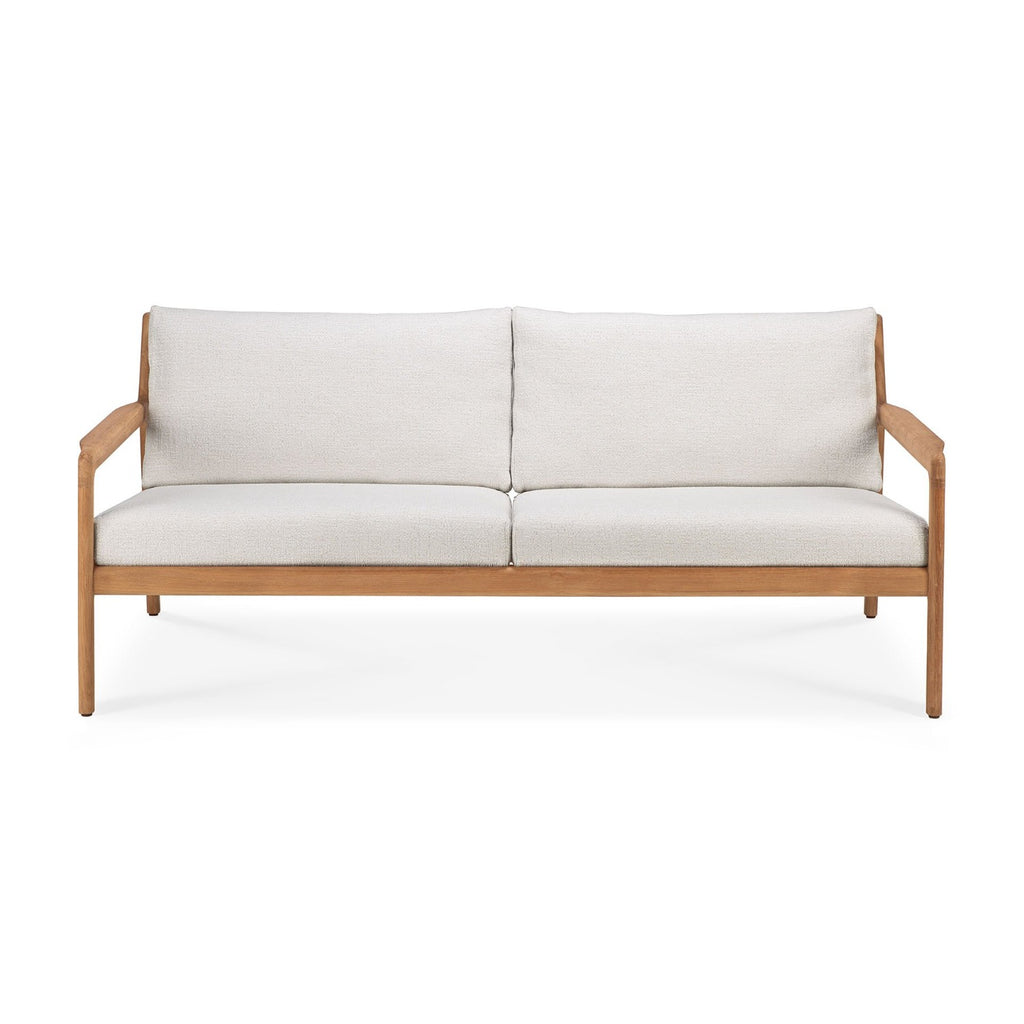 Teak Jack Outdoor Loveseat - Off White
