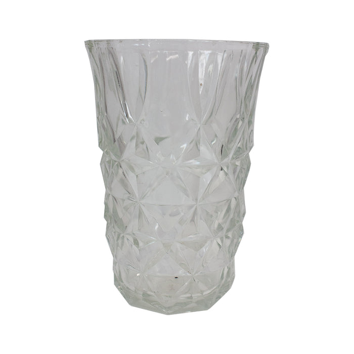 Vintage French Cut Glass Vase #7