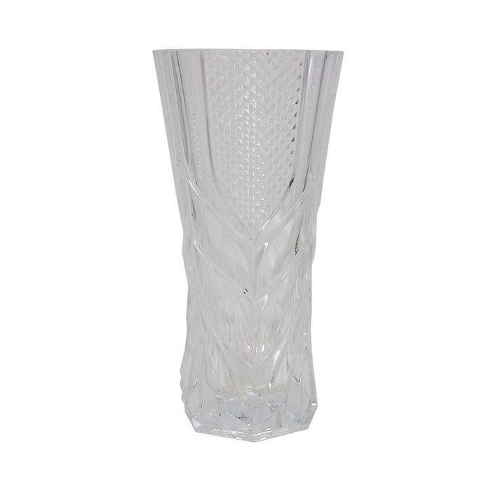 Vintage French Cut Glass Vase #8