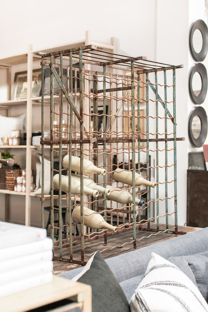 Antique French Wine Cage