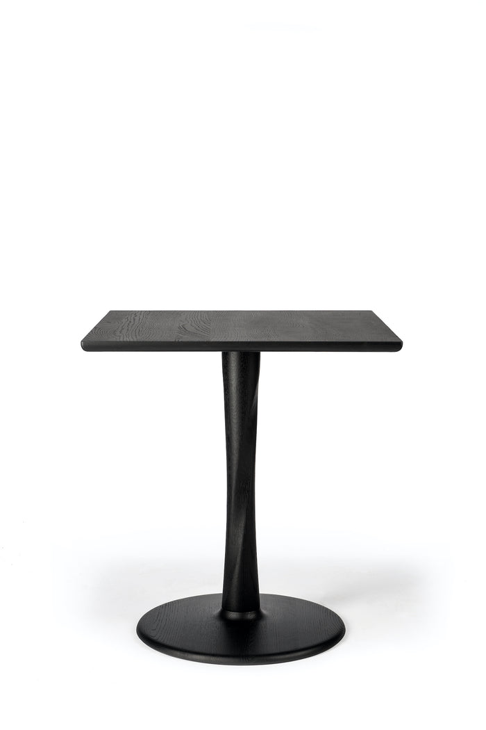 Oak Torsion Square Black Dining Table | Ethnicraft